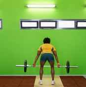 Deadlifts work your whole back, as well as your glutes, hamstrings and core muscles.