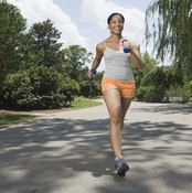Train at moderate intensities to get in the fat-burning zone.