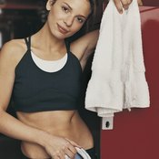 Keeping an organized gym locker can help you save time and avoid germs.