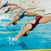 One of these swimmers could be competing unattached.