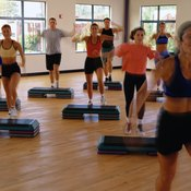 Step aerobics is fun for all fitness levels.