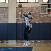 Shooting drills can be part of a basketball circuit workout.