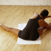 Stretch the back of your thighs to promote flexibility.
