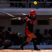 Fast-pitch bats are lighter, giving better reaction times.