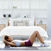 With a gradual buildup, crunches can be done without shaking.