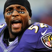 The Baltimore Ravens' Ray Lewis, one of the top linebackers in NFL history, is known for his intense workouts.
