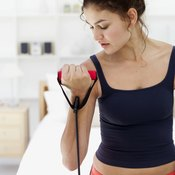 Stretch cords build strength without stress on tendons and joints.