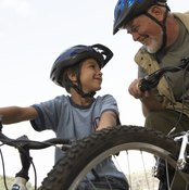 Mountain bike tires are often 26 inches, though they can be larger for tall people and smaller for children.