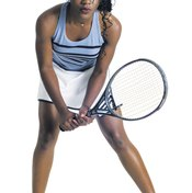 Players use the double forehand for power and consistency.