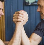 Strength, speed, strategy and technique -- the winning combination in arm wrestling.
