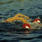 A quick transition between swimming and biking takes preparation and practice.