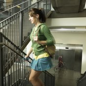 Climbing stairs works your muscles and burns calories.