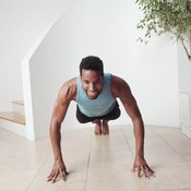 Carve out a clear space to do exercises at home.
