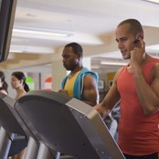 Some who run on treadmills are more casual about their workouts than others.