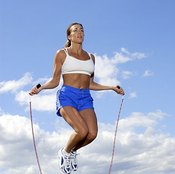 A weighted jump rope increases the intensity of your workout.