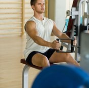 Seated rows strengthen the middle trapezius fibers.