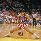 Nobody exhibits fingertip control quite like a Globetrotter, as evidenced by Tyrone 'Hollywood' Brown in 1989.