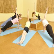 Yoga activities strengthen muscles that maintain posture.