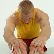 Don't try touching your toes until you've properly warmed up.