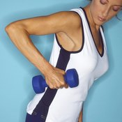 The bent over dumbbell row works a variety of muscles throughout your upper body.