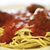 Use low-sodium tomato products to make a low-sodium spaghetti sauce.