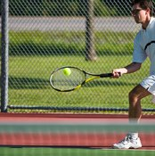 Flat groundstrokes can be used to win a point.