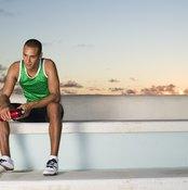 Runner resting on bench