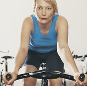 An exercise bike workout burns fat and builds muscle.