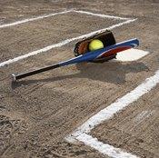 Basic softball equipment begins with a bat, ball and glove.