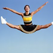 Properly executed, the split jump is one of cheerleading's most dramatic jumps.