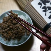 Natto, or fermented soybeans, is a good source of potassium.