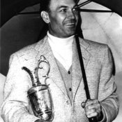 Golf instructor Jim Hardy says Ben Hogan, shown here after winning the 1953 British Open, was a one-plane swinger.