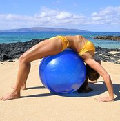 The ball supports your body in the stretch.