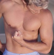 Frequent weight-lifting will flatten your chest while defining them.