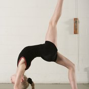 Gymnastics demands considerable leg strength.