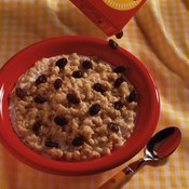 Oatmeal makes a heart-healthy breakfast.