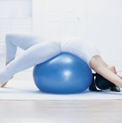 Stretching on a stability can elgonate your abs.
