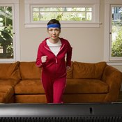 Jog in place at home while you watch television.