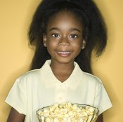 Unsalted popcorn is a nutritious and easy snack to pass around at parties.