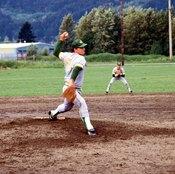 A backyard pitching mound offers offseason training.