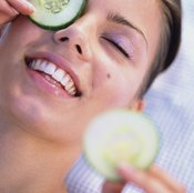 Try ice or cold vegetables to reduce puffiness.