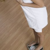 Many women gain weight during perimenopause.
