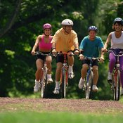 Bicycling is an alternative to jogging for exercise.