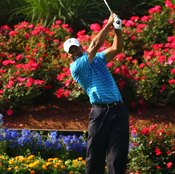 If you're facing the target on your follow-through like Tiger Woods, you've probably turned your hips correctly.