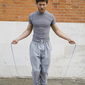 Boxers jump rope to improve footwork.
