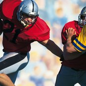 The power clean trains power needed for explosive sports like football.