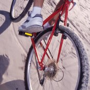 Clip or strap-free pedals may be more appropriate for town biking, where there are lots of stops and starts.