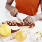 Fresh fruits are easy to prepare for snacks.