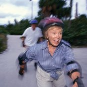 Rollerblading provides an exciting form of exercise for aging adults.