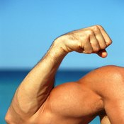 A reverse-grip lateral raise targets the front of the shoulder.